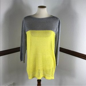 APt 9 open knit sweater size XL